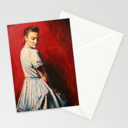 Sarah in a Blue Dress Stationery Cards