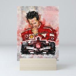 Michael Schumacher Mini Art Print
