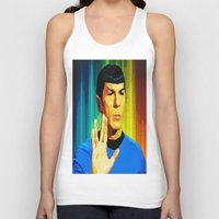 spock Tank Tops featuring Spock by The Art Of Gem Starr