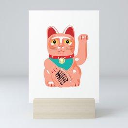 Maneko Lucky Cat Mini Art Print