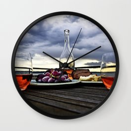 Rosé in the Storm Wall Clock