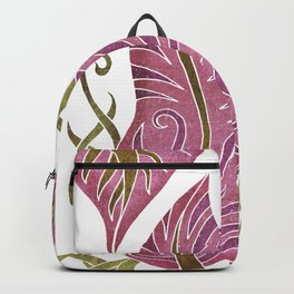 Leaf - Exotic Boho Leaf Pattern 03- Colorful, Modern, Tropical Art - Tapestry, Lily, Camouflage Backpack