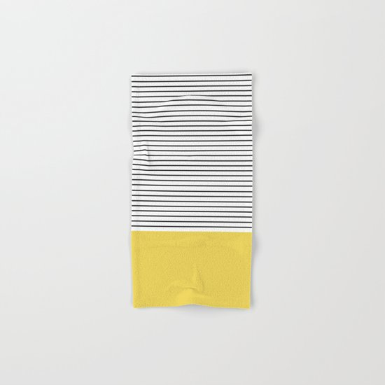MINIMAL Green Stripes Hand & Bath Towel