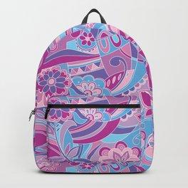 Retro pattern in pink purple Backpack