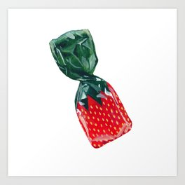 Strawberry BonBon Art Print