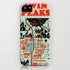 Twin Peaks Map iPhone (5, 5s) Slim Case