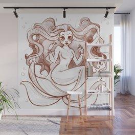 Goldfish Mermaid Wall Mural