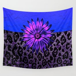 Purple Animal Print and Medallion Wall Tapestry