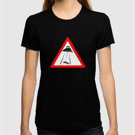 Alien Abduction Sign T-shirt