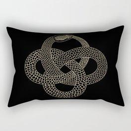 Vintage line snake Rectangular Pillow