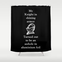 knight Shower Curtains featuring KNIGHT by I Love Decor