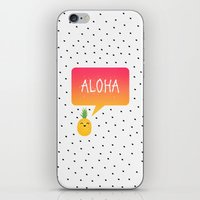 aloha iPhone & iPod Skins featuring Aloha by Elisabeth Fredriksson