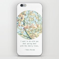 What the spring does to cherry trees iPhone & iPod Skin