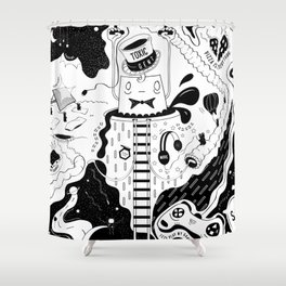 Toxic Gent Shower Curtain