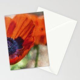 Two Poppies Painterly Stationery Cards
