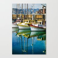 boats Canvas Prints featuring Boats by Chee Sim