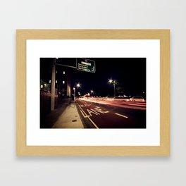 the night life Framed Art Print