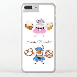 Munich Kitties Clear iPhone Case