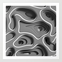 Gray Space Art Print