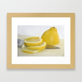 Time for a Slice. Framed Art Print