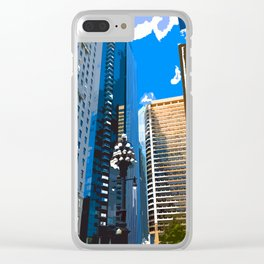 Downtown Philladelphia. JFK Plaza Clear iPhone Case