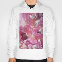 minerals Hoodies featuring Pink Gemstone by Kristiana Art Prints
