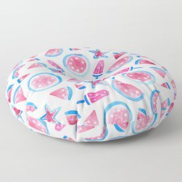 July 4th Watermelon Floor Pillow