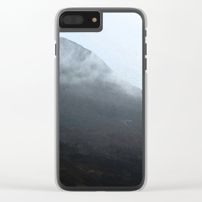 In the crouching mountains Clear iPhone Case