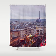 Rainy Paris. Shower Curtain