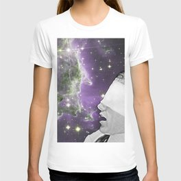 People of the Universe-Nebula Blindfold-Purple T-shirt