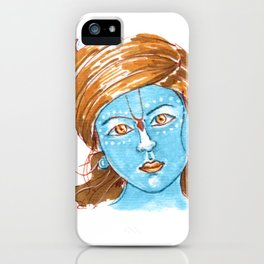 Lord Krishna painting from Russia iPhone Case