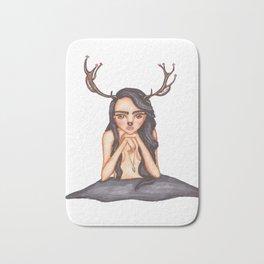 Deer girl Bath Mat