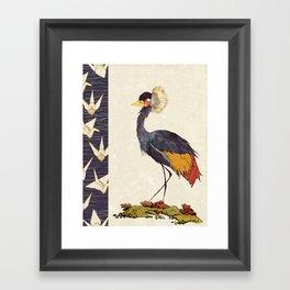 Paper cranes Framed Art Print