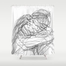 make-out? (B & W) Shower Curtain