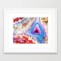 crystals Framed Art Prints featuring Crystals by Eileen Holland