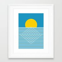 sunrise Framed Art Prints featuring Sunrise by FLATOWL