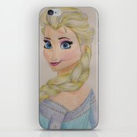 elsa iPhone & iPod Skins featuring Elsa by Sierra Christy Art