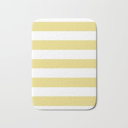 Flax - solid color - white stripes pattern Bath Mat