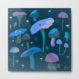 Groovy Mushrooms - Blues Metal Print