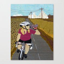 Riding Yellowjacket Canvas Print