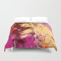 faces Duvet Covers featuring Faces by Tina Vaughn
