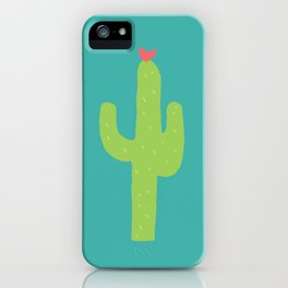 Valentine Homegrown Love Cactus Pattern iPhone Case
