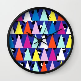 Triangle Animal Print in Royal Blue Wall Clock