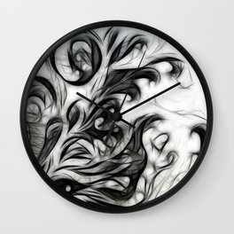Glowing Floral Invert Wall Clock