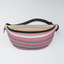 Striped Rainbow Sunset Abstract Pattern Fanny Pack