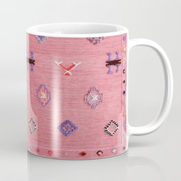 Pink Oriental Traditional Boho Moroccan Style Design Artwork Coffee Mug