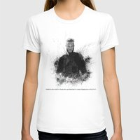vikings T-shirts featuring Ragnar Lothbrok from Vikings by Sjors van den Hout