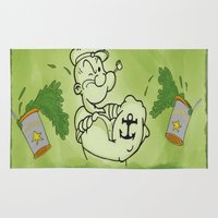 popeye Area & Throw Rugs featuring Popeye  by ItalianRicanArt