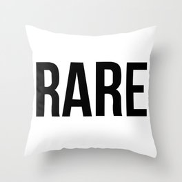 R A R E Throw Pillow