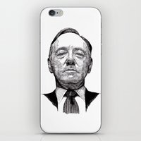 house of cards iPhone & iPod Skins featuring House of Cards - Francis Underwood by Rik Reimert